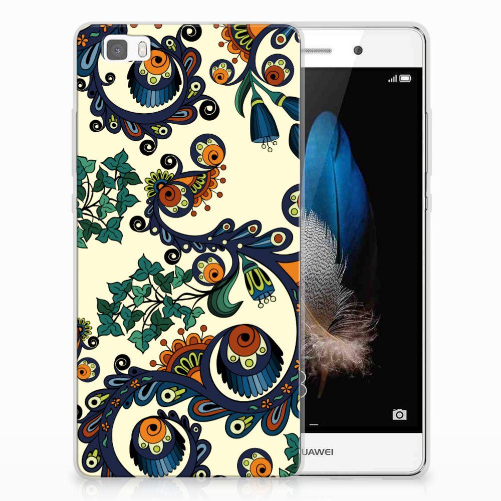 Siliconen Hoesje Huawei Ascend P8 Lite Barok Flower
