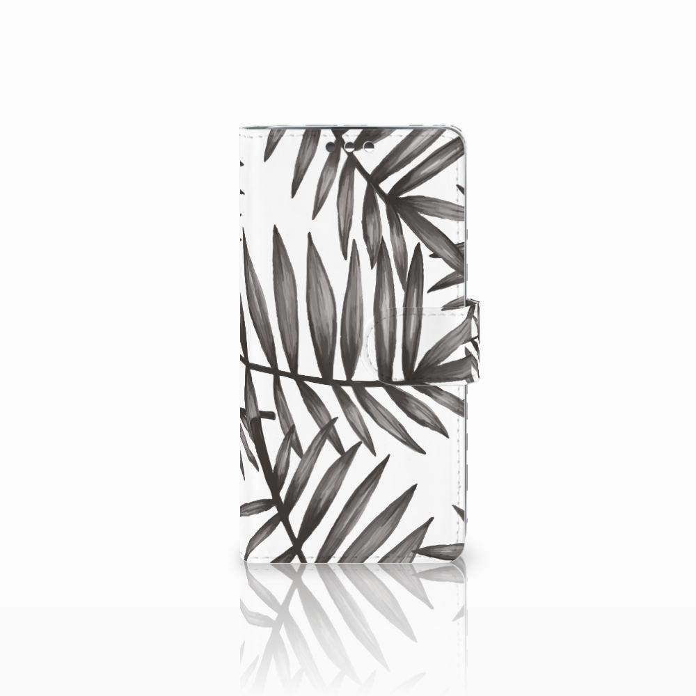 LG K8 Uniek Boekhoesje Leaves Grey