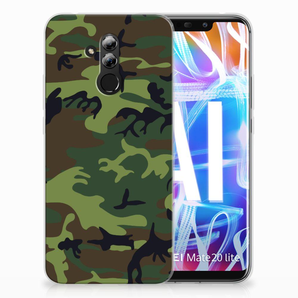 Huawei Mate 20 Lite TPU Hoesje Design Army Dark