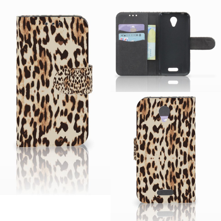 Lenovo B Telefoonhoesje met Pasjes Leopard