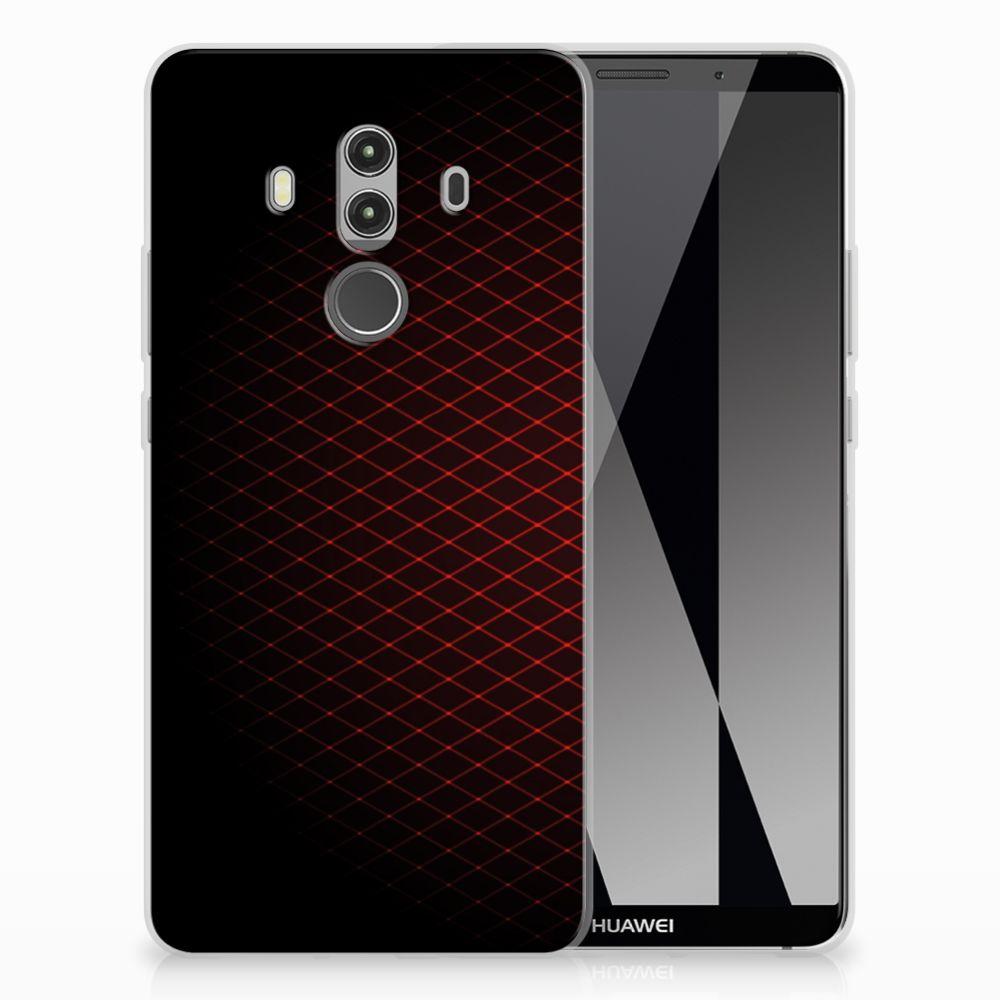 Huawei Mate 10 Pro TPU bumper Geruit Rood