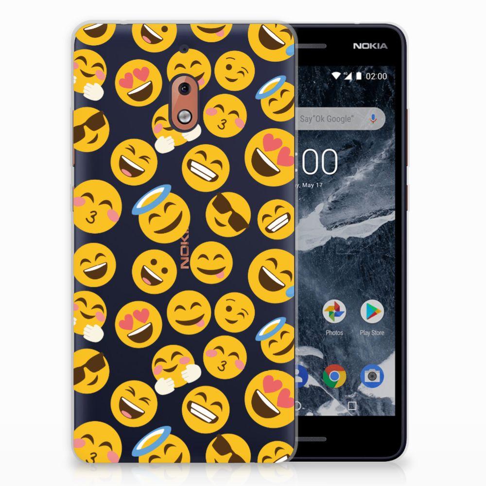 Nokia 2.1 (2018) TPU Hoesje Design Emoji