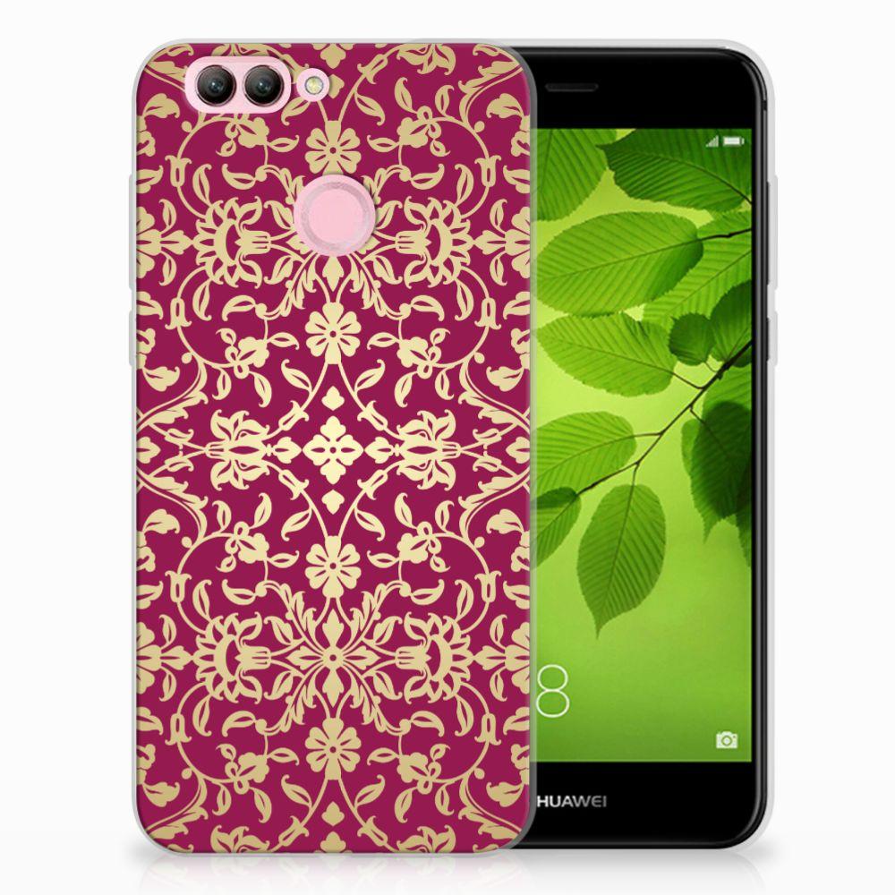 Huawei Nova 2 TPU Hoesje Design Barok Pink