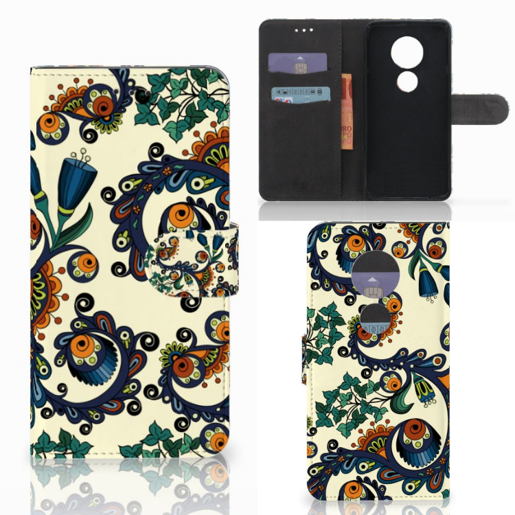 Wallet Case Motorola Moto E5 Play Barok Flower