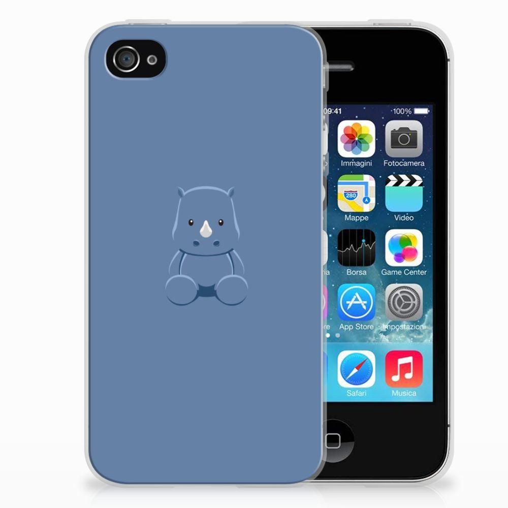 Apple iPhone 4   4s Telefoonhoesje met Naam Baby Rhino