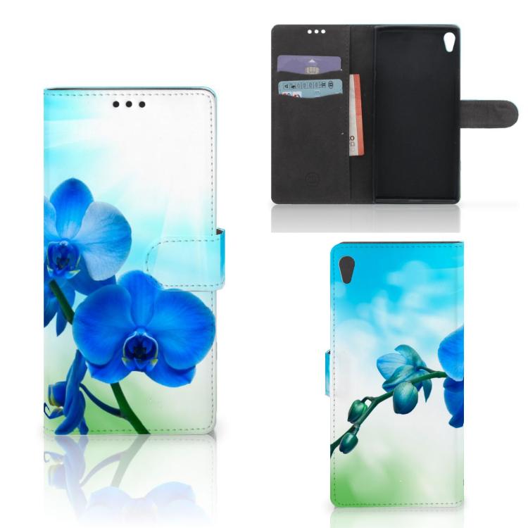 Sony Xperia XA Ultra Hoesje Orchidee Blauw - Cadeau voor je Moeder