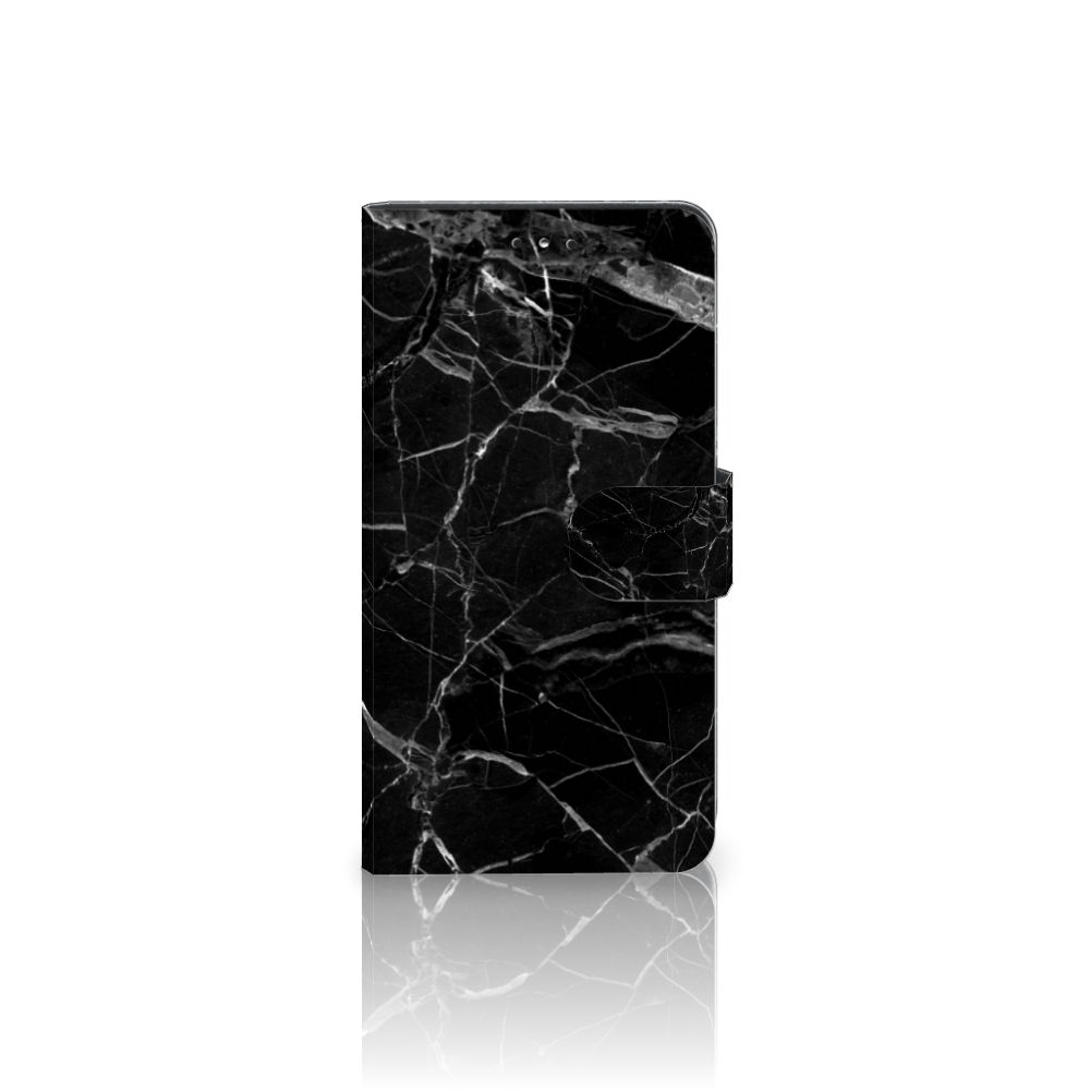 Nokia 6 (2018) Uniek Boekhoesje Marmer Zwart