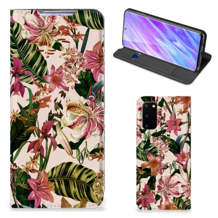 Samsung Galaxy S20 Smart Cover Flowers