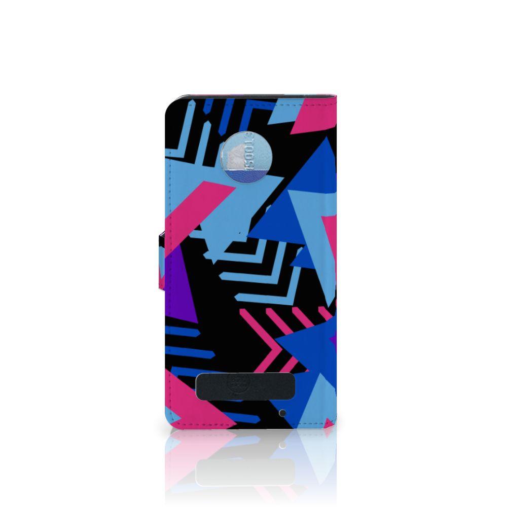 Motorola Moto Z Play Bookcase Funky Triangle