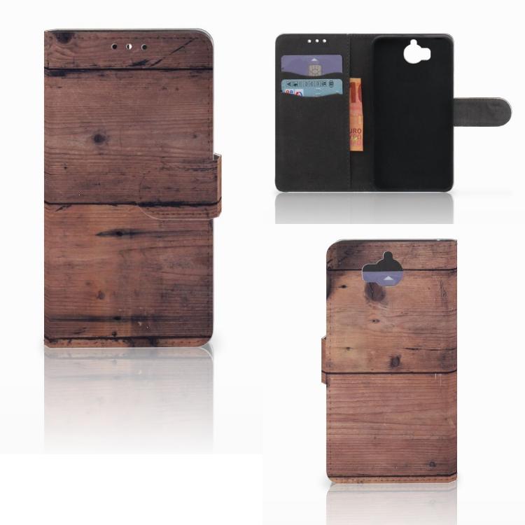 Huawei Y5 | Y6 2017 Book Style Case Old Wood