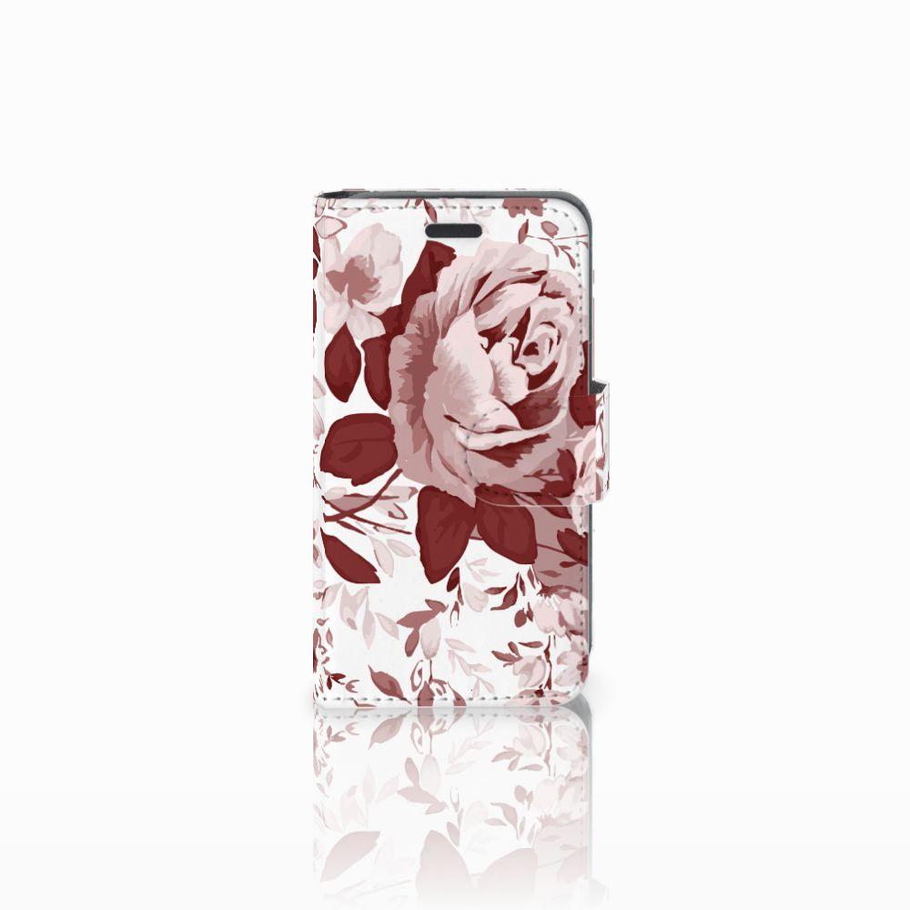 Nokia Lumia 520 Uniek Boekhoesje Watercolor Flowers