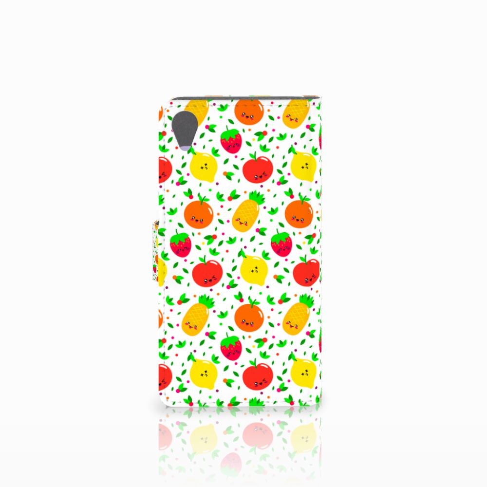 Sony Xperia X Book Cover Fruits