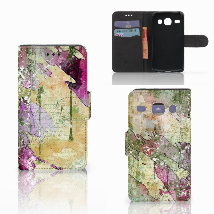 Hoesje Samsung Galaxy Core i8260 Letter Painting