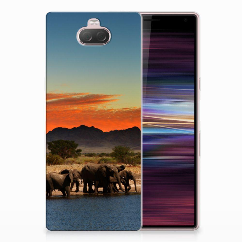 Sony Xperia 10 TPU Hoesje Olifanten