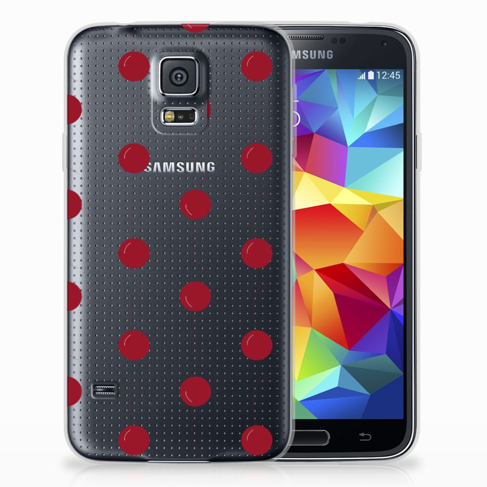 Samsung Galaxy S5 Siliconen Case Cherries