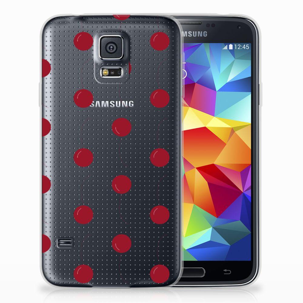 Samsung Galaxy S5 Siliconen Case Cherries