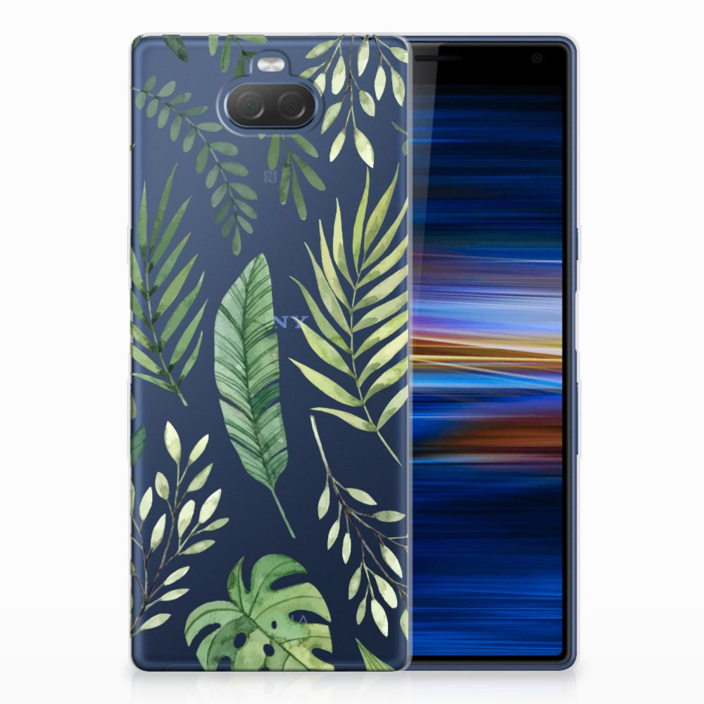 Sony Xperia 10 Plus Uniek TPU Hoesje Leaves