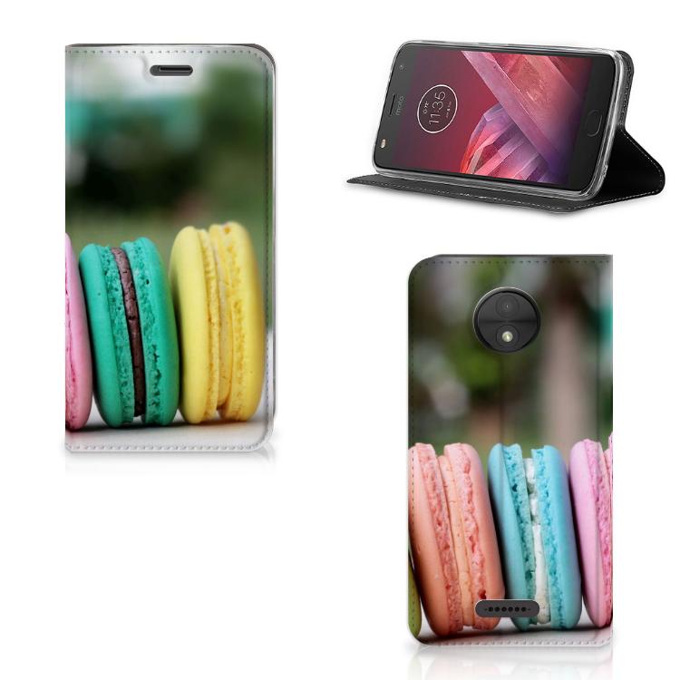 Motorola Moto C Flip Style Cover Macarons