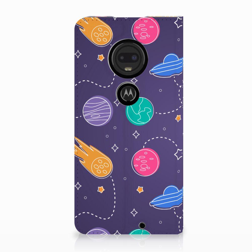 Motorola Moto G7 | G7 Plus Uniek Standcase Hoesje Space