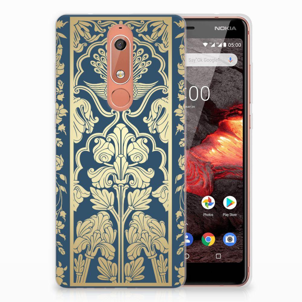 Nokia 5.1 (2018) TPU Case Golden Flowers