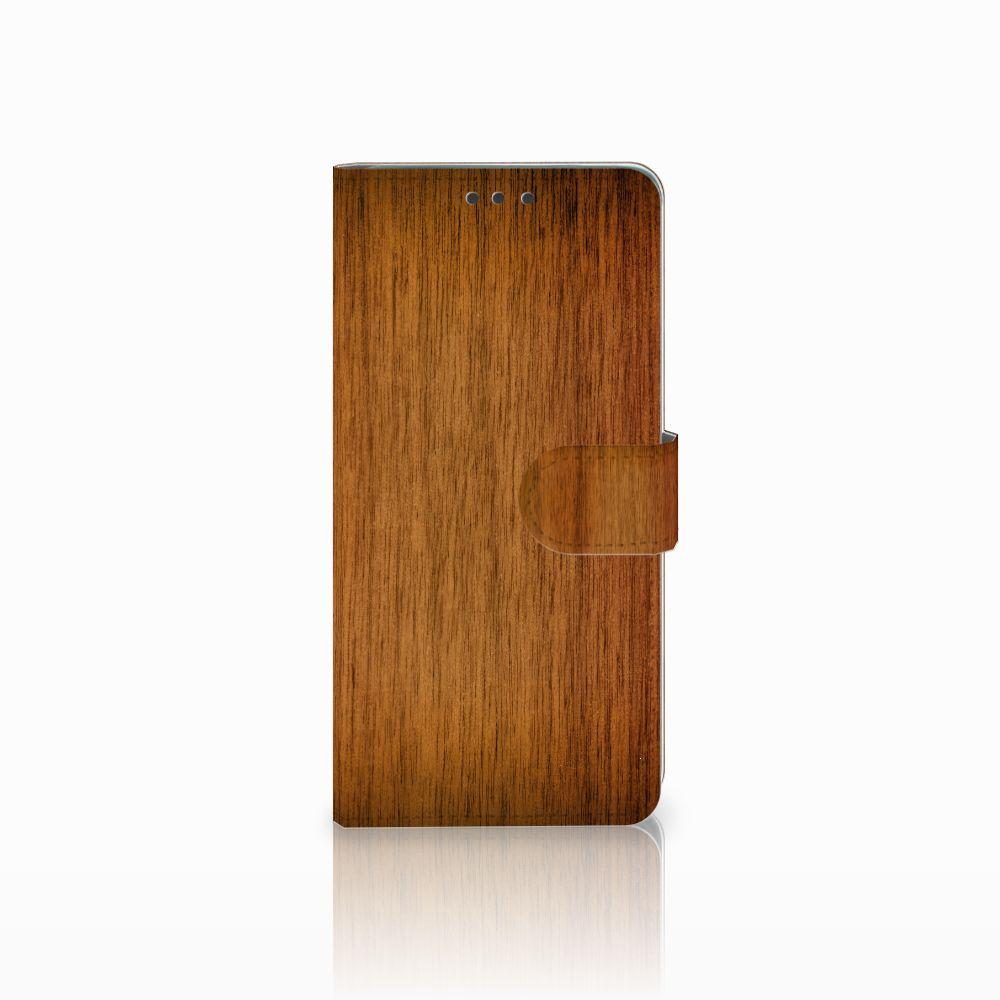 Huawei Mate 20 Uniek Boekhoesje Donker Hout