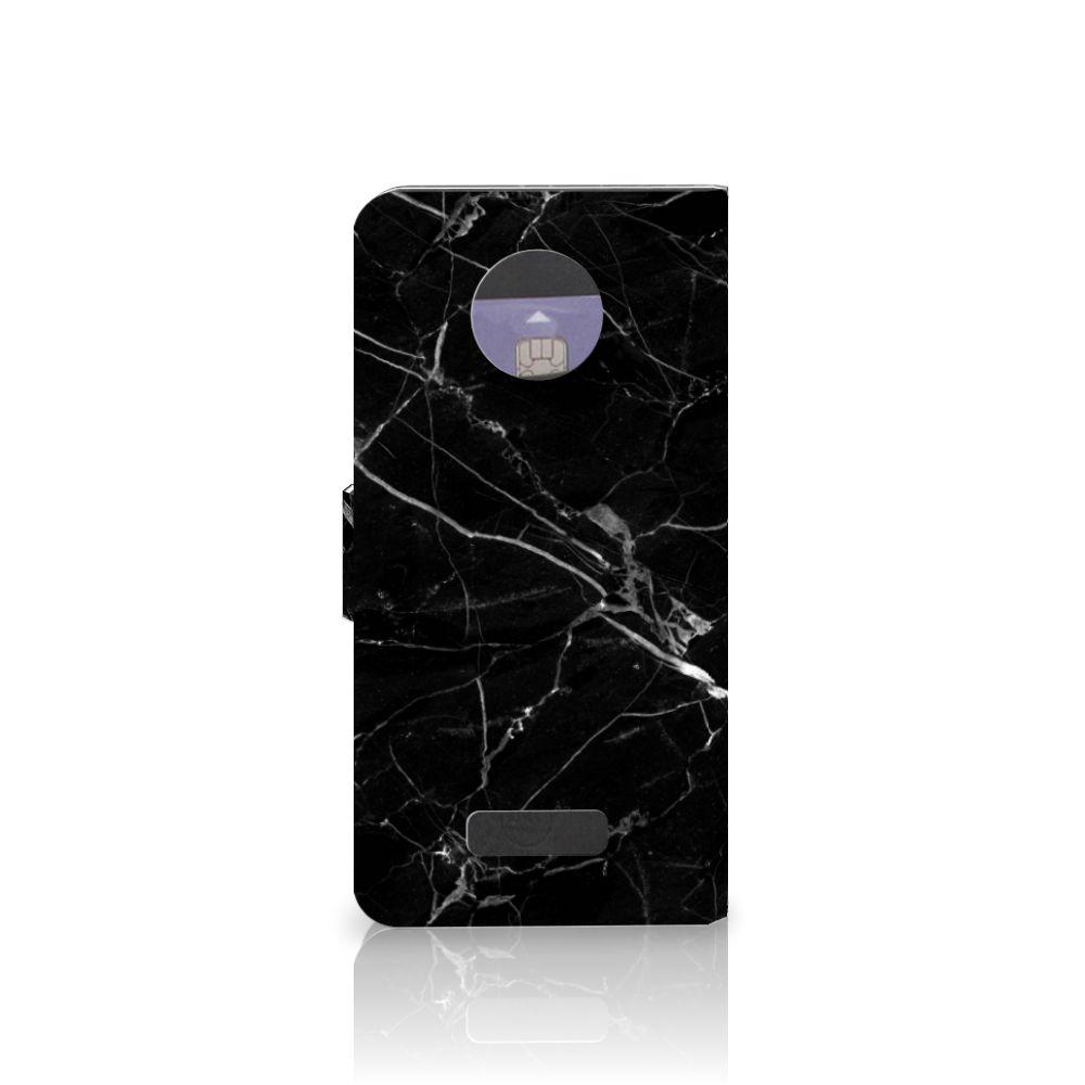 Motorola Moto Z Bookcase Marmer Zwart