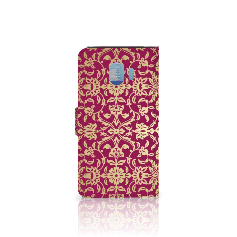 Wallet Case Samsung Galaxy J4 2018 Barok Pink