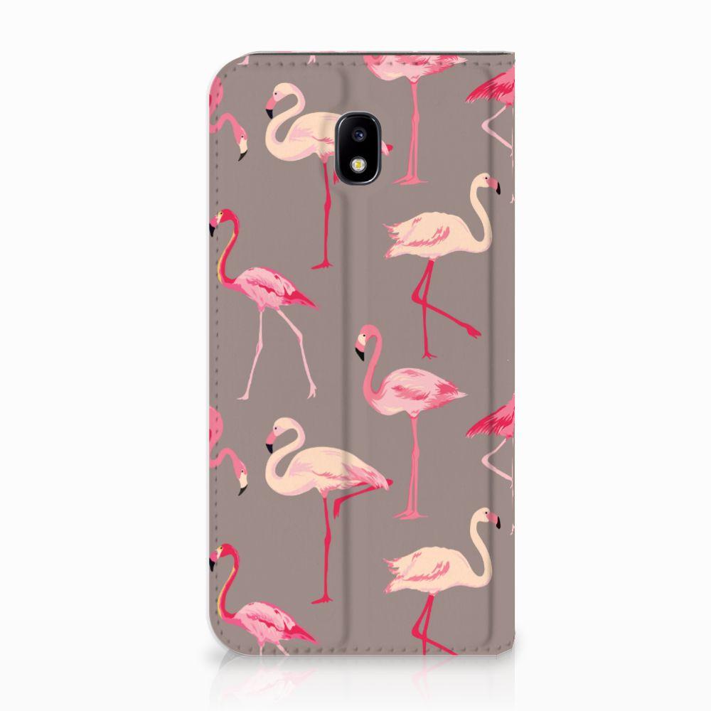 Samsung Galaxy J5 2017 Uniek Standcase Hoesje Flamingo