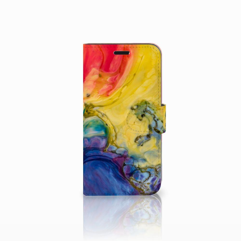 Huawei Nova Uniek Boekhoesje Watercolor Dark
