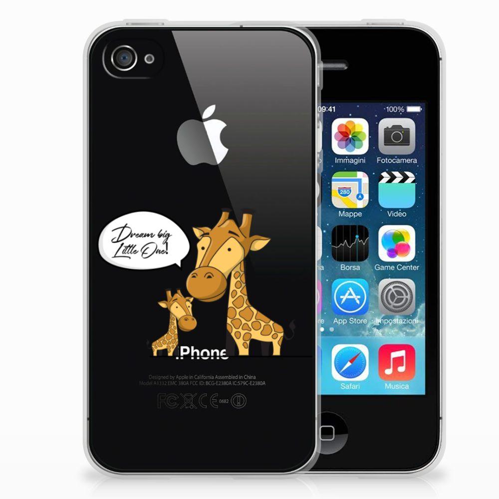 Apple iPhone 4   4s Telefoonhoesje met Naam Giraffe