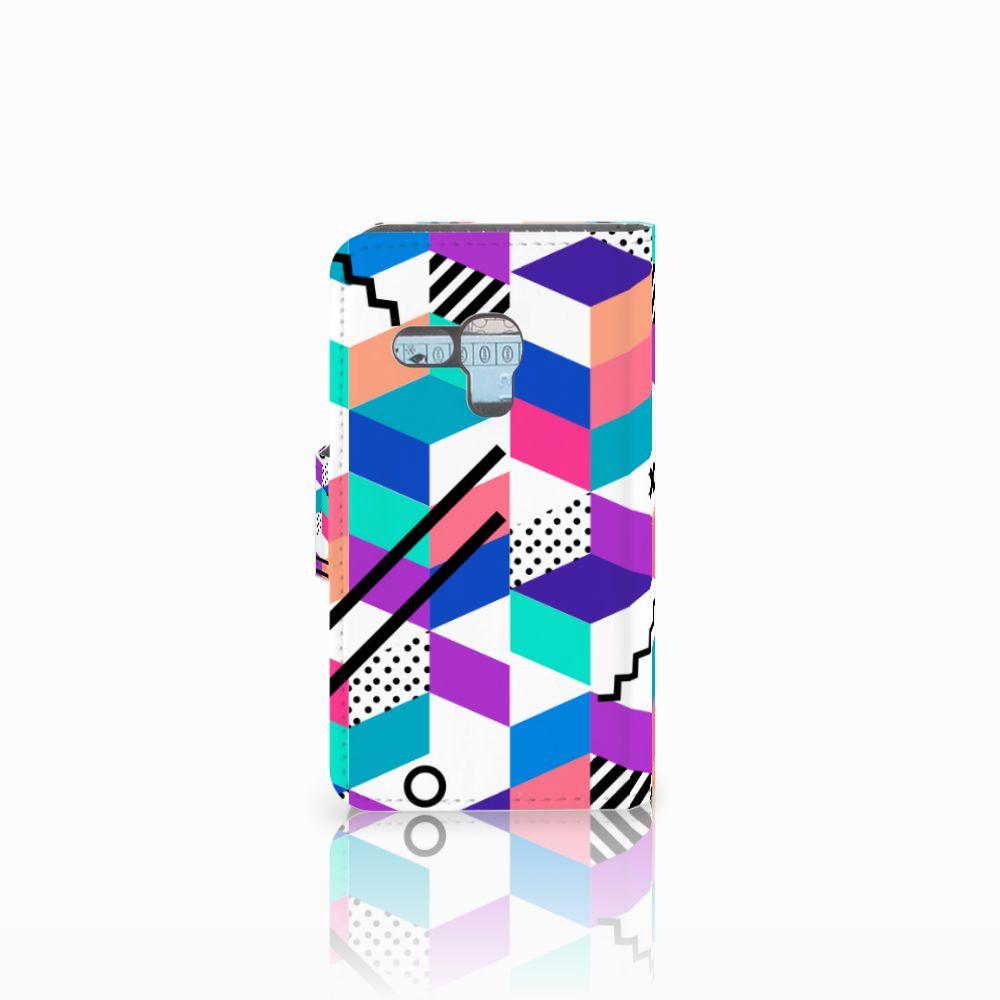 Samsung Galaxy S3 Mini Bookcase Blokken Kleurrijk