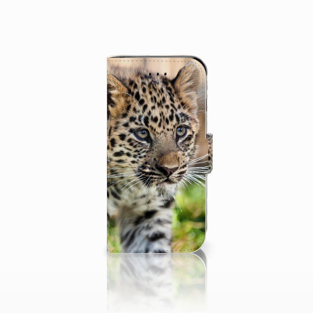 Apple iPhone 6 | 6s Uniek Boekhoesje Baby Luipaard