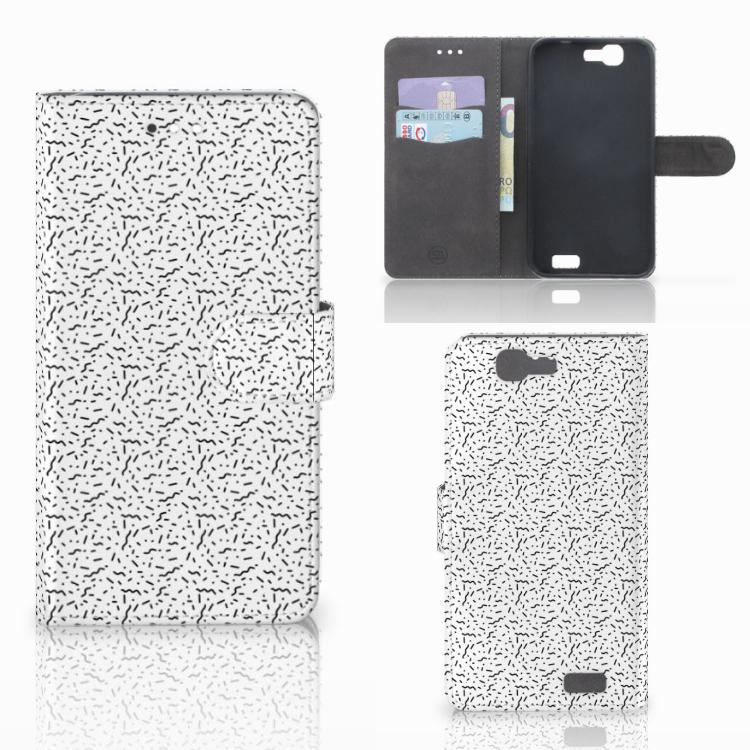 Huawei Ascend G7 Telefoon Hoesje Stripes Dots