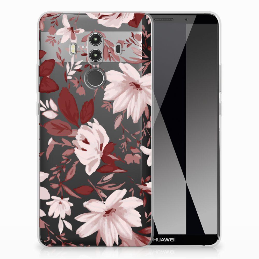 Huawei Mate 10 Pro Uniek TPU Hoesje Watercolor Flowers