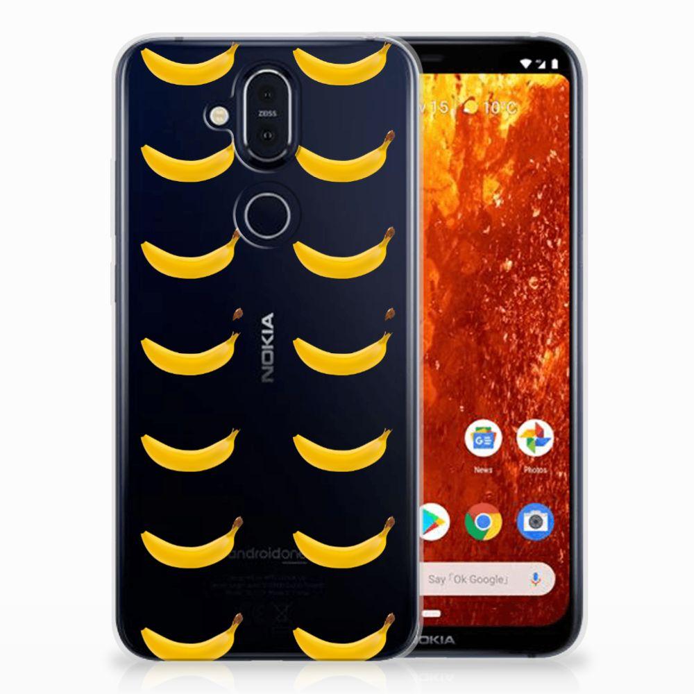 Nokia 8.1 Siliconen Case Banana