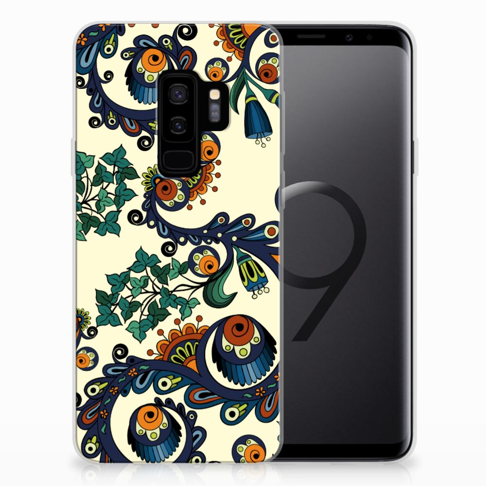 Siliconen Hoesje Samsung Galaxy S9 Plus Barok Flower