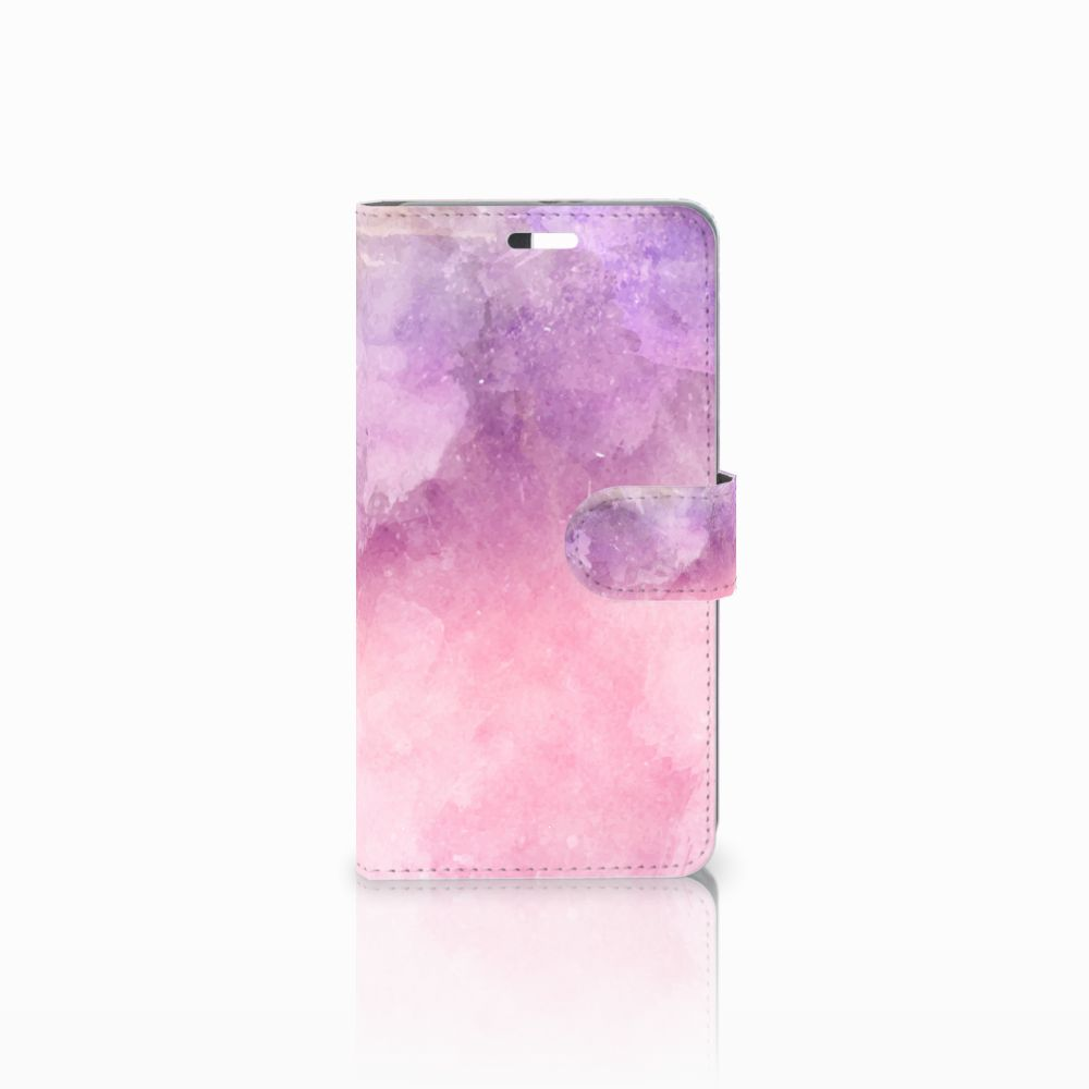 Huawei P9 Plus Boekhoesje Design Pink Purple Paint