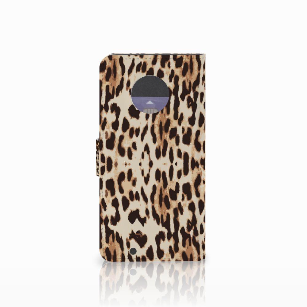 Motorola Moto G6 Telefoonhoesje met Pasjes Leopard