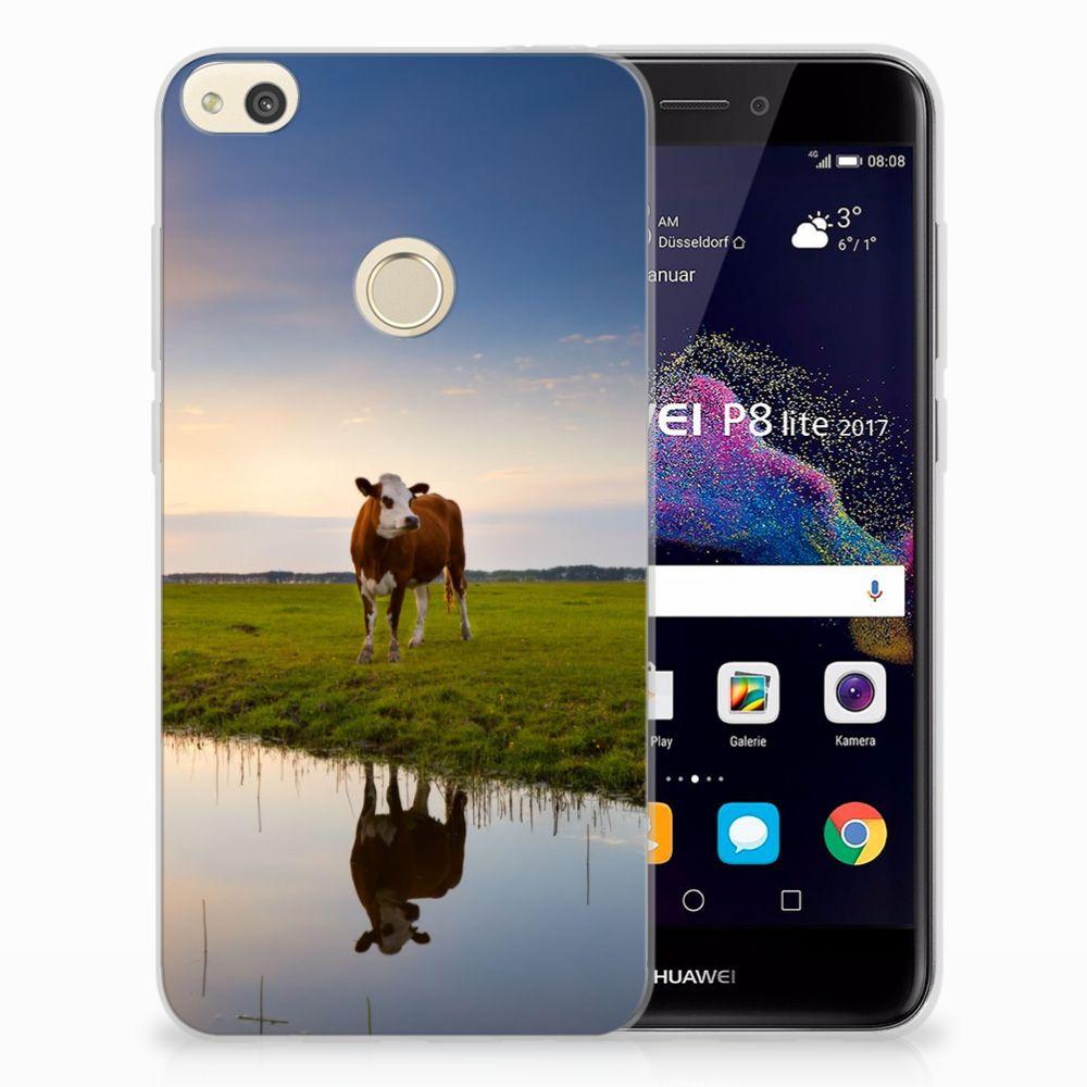 Huawei P8 Lite 2017 TPU Hoesje Design Koe