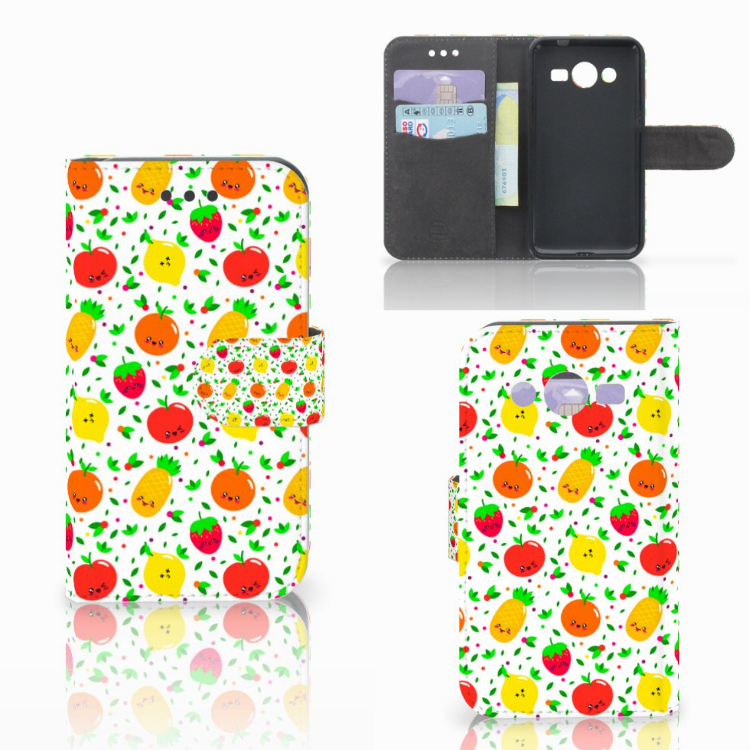 Samsung Galaxy Core 2 Book Cover Fruits