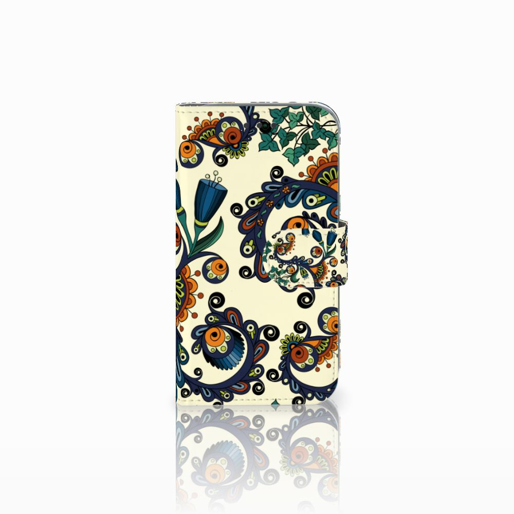 Wallet Case Samsung Galaxy Core Prime Barok Flower