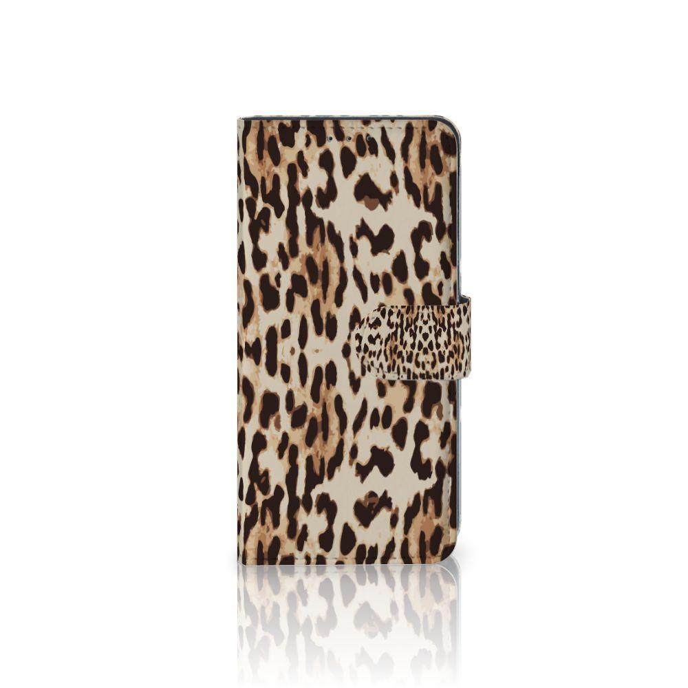 LG V40 Thinq Uniek Boekhoesje Leopard