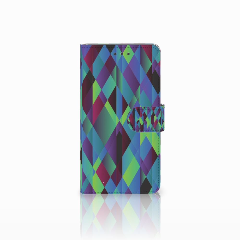 Huawei Honor 5X Bookcase Abstract Green Blue