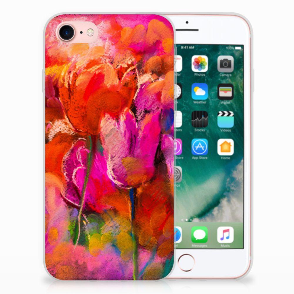 Apple iPhone 7 | 8 TPU Hoesje Design Tulips