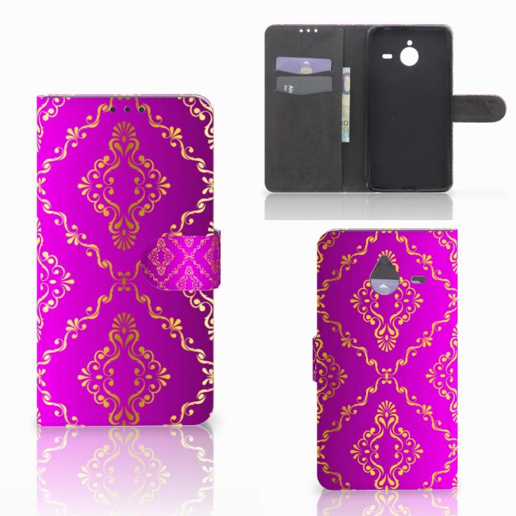 Wallet Case Microsoft Lumia 640 XL Barok Roze