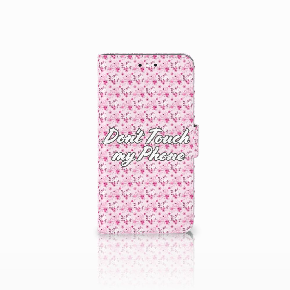 Motorola Moto G4 | G4 Plus Uniek Boekhoesje Flowers Pink DTMP