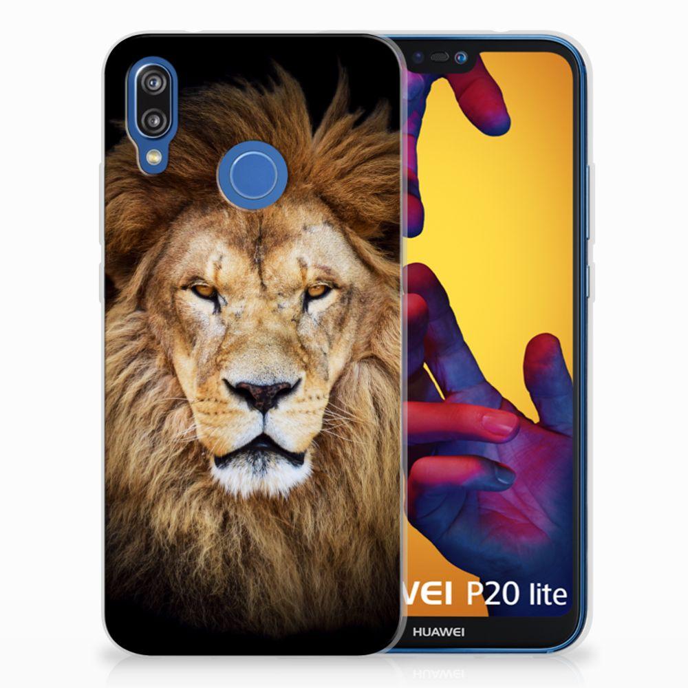 Huawei P20 Lite TPU Hoesje Design Leeuw