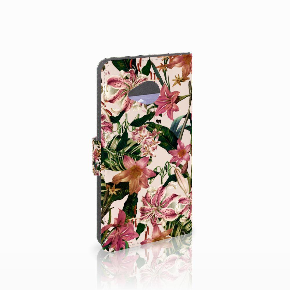 HTC U11 Life Uniek Boekhoesje Flowers