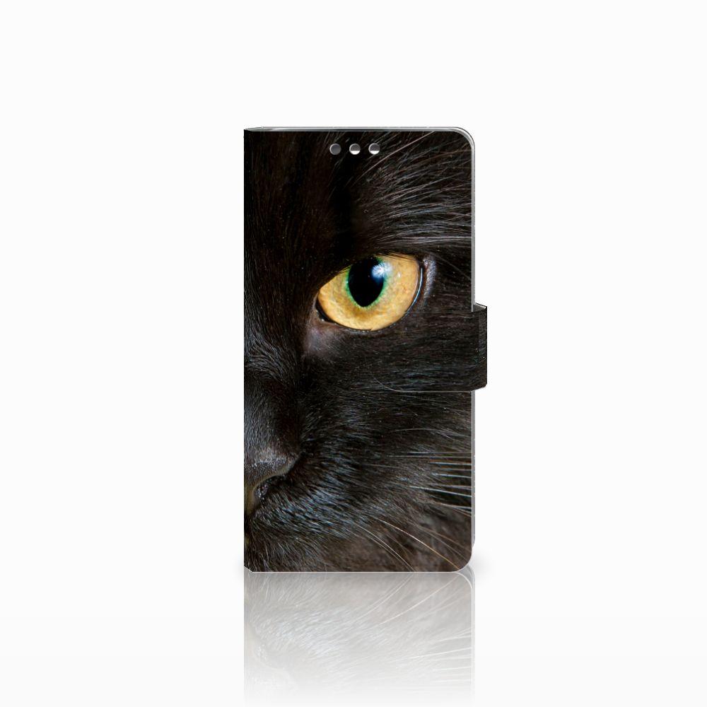 LG K8 Uniek Boekhoesje Zwarte Kat