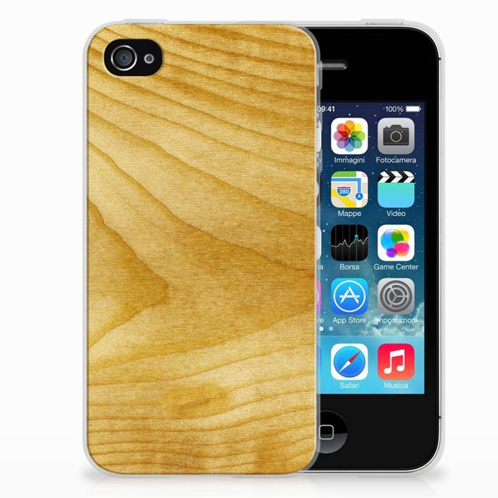 Apple iPhone 4   4s Bumper Hoesje Licht Hout